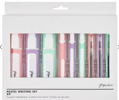 pastel-writing-set