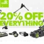 20% OFF EVERYTHING SITEWIDE - including cordless Floorcare, Garden, Power Tools and Massage Bed