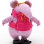 Hand knitted Clangers in Organic Cotton