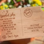 PRODUCT OF THE WEEK: Personalised Wooden Engraved Postcard