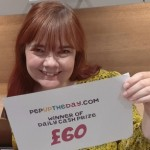 CASH PRIZE WINNER: Claire won £60 cash on 30th August 2020